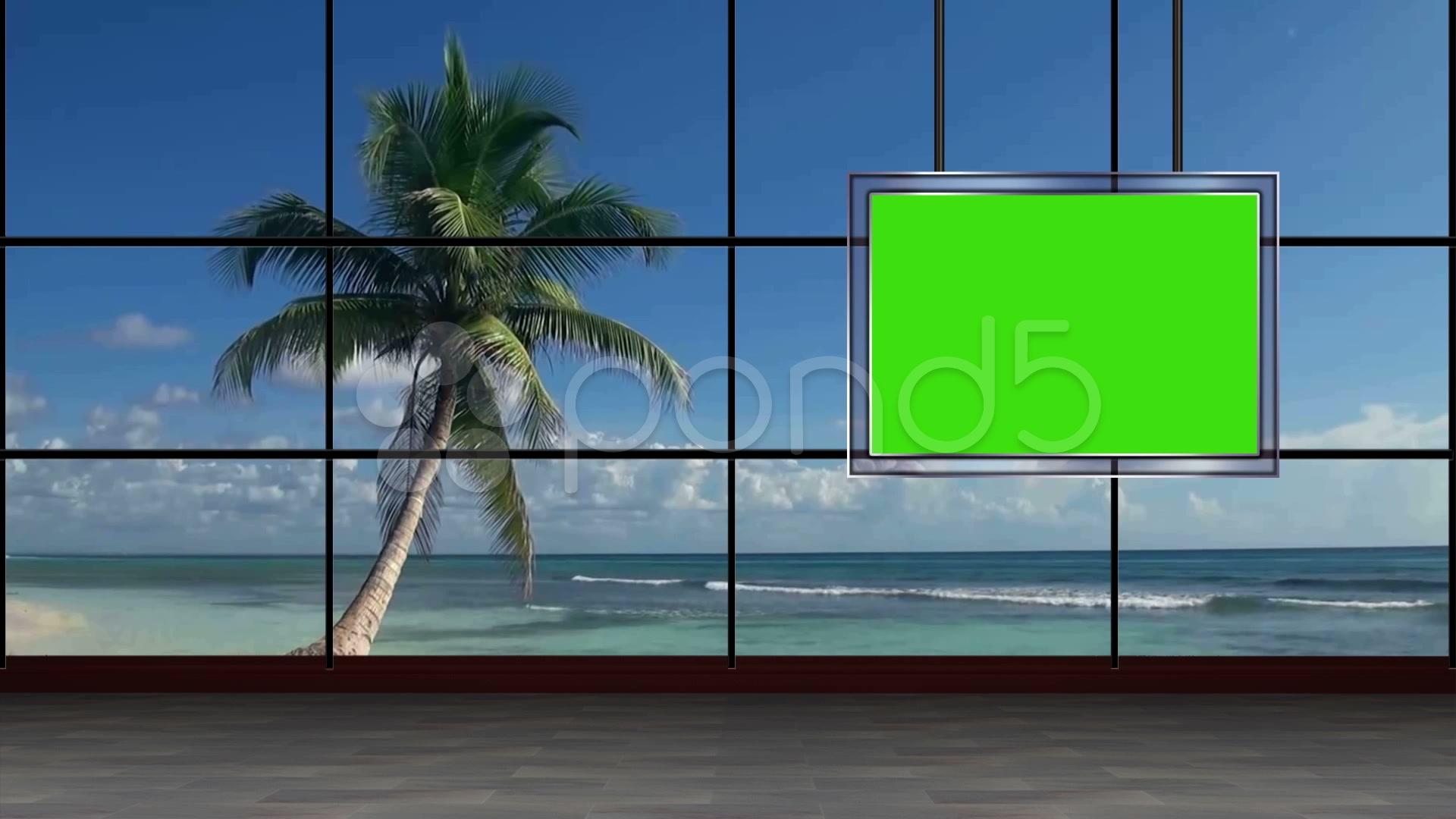 News TV Studio Set 33 - Virtual Green Screen Background Loop ~ Video ...
