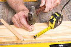 Do-it-yourself with different tools Stock Photos