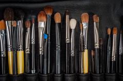 Makeup art tools - stock photo