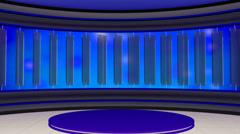 News TV Studio Set 21 - Virtual Green Screen Background Loop - stock footage