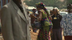 Congregations arrives, Nigerian mega church Stock Footage