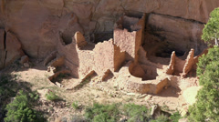 Mesa Verde Square Tower House Indian ruin cliff dwelling HD 091 Stock Footage