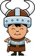 boy barbarian - stock illustration