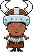 child barbarian - stock illustration