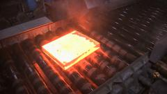 Stock Video Footage of Steel rolling mill.