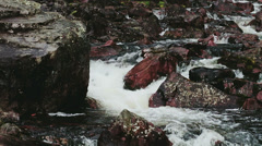 Stock Video Footage of Powerful Flowing River filled with Rocks - 29,97FPS NTSC