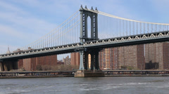 Manhattan Bridge, New York City Stock Footage