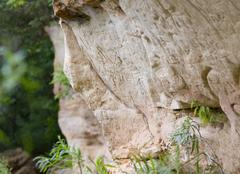 Cliff Etchings Stock Photos