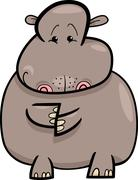 Stock Illustration of Hippo or Hippopotamus Cartoon