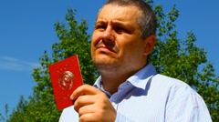 Man with soviet union passport episode 1 Stock Footage