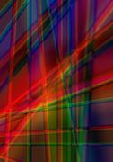 Abstract bright background of radiant colored stripes Stock Illustration
