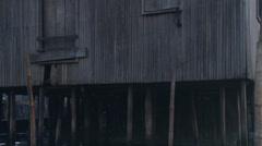 Tracking shot, dusk, smokey light, water Stock Footage