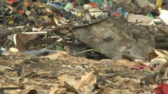 MCU, waste, human scavenger, plastic Stock Footage