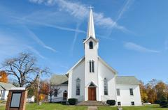 Stock Photo of rural church, midwest, ohio, near akron, usa