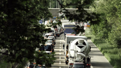 Traffic on german streets Stock Footage