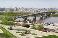Stock Photo of nizhny novgorod, russia - may 1, 2014: the oldest bridge in the city. built i