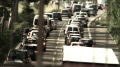 Traffic on german streets - stock footage