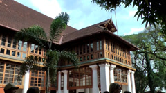 India Kerala Kochi Cochin City 050 magnificent building on an island Stock Footage