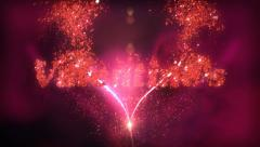 Happy Valentine's Day Card Stock Footage