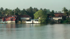 India Kerala Kochi Cochin City 059 shoreline of lake in backwaters Stock Footage
