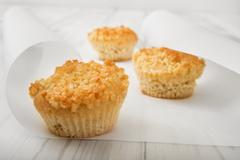 Low carb almond muffins - stock photo