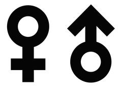 male and female symbols - stock illustration