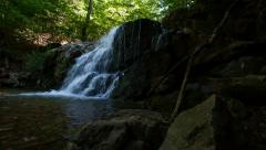 Waterfall dolly L-R Patapsco Park Stock Footage
