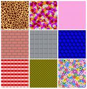 Varied textures Stock Illustration