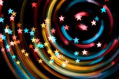 disco stars - stock photo