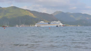 Stock Video Footage of Cruise liner in Marmaris bay