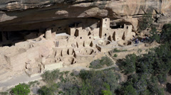Mesa Verde tourism Cliff Palace Indian Cliff Dwelling HD 080 Stock Footage
