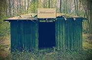 Stock Photo of Run down shelter in the woods