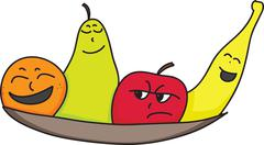 personality fruit - stock illustration