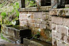 France, Alsace, Mont Sainte-Odile, Odile, Miraculous spring of Saint Odile - stock photo