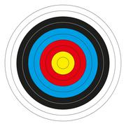 colorful bullseye target - stock illustration