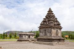 Dieng temple Arjuna complex Indonesia - stock photo