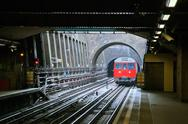 Stock Photo of Red Train in London