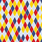 harlequin parti-coloured seamless pattern 3.1 - stock illustration
