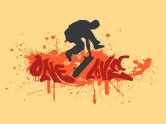 One love skateboarding Piirros
