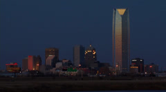 Oklahoma City Skyline at Night - stock footage