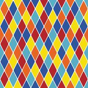 Harlequin parti-coloured seamless pattern 3.10 Stock Illustration