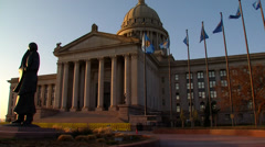 Oklahoma State Capitol Stock Footage