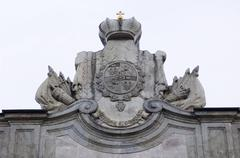Coat of arms of family of count Orlov - stock photo