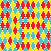 harlequin parti-coloured seamless pattern 4.0 - stock illustration