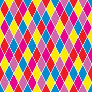Stock Illustration of harlequin parti-coloured seamless pattern 3.7