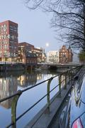 Stock Photo of Germany, Hamburg, Old and new buildings in Speicherstadt and Hafencity