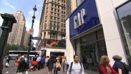 Stock Video Footage of Gap Store in Herald Square