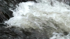 Churning River Water Slow Motion Close Up - 25FPS PAL Stock Footage