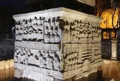 Stock Photo of Turkey, Istanbul, At Meydani, Relief, Base of Egyptian Obelisk