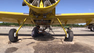 Stock Video Footage of California Farming,  Crop duster, big wrench